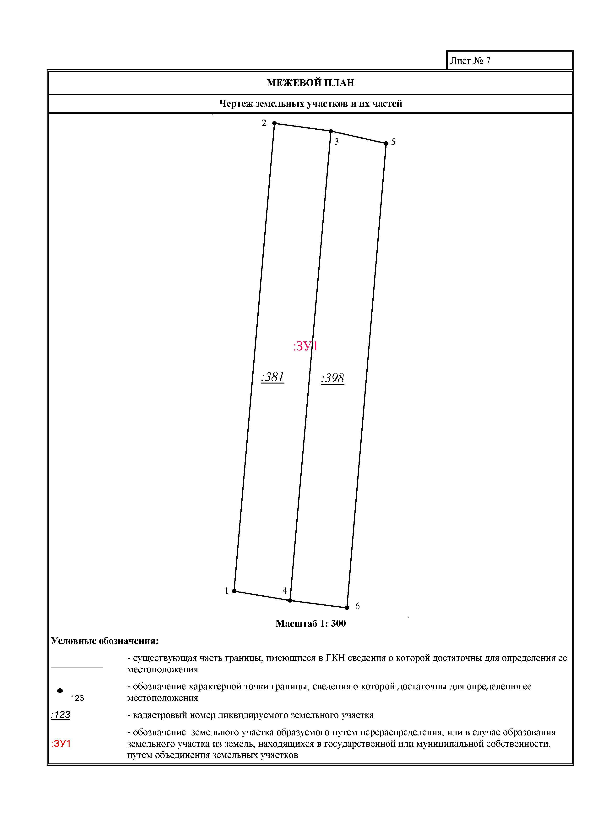 Образец межевого плана по перераспределению земельных участков